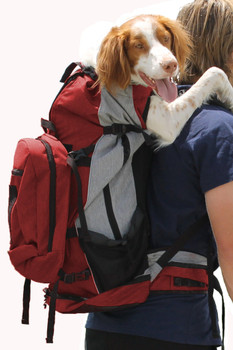 Rover Pet Backpack Carrier - Red - Pets 30 - 80lbs