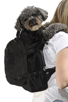 K9 Sport Sack Plus 2-Jet Black - Pets Up to 40 lbs
