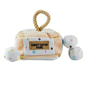 Chewy Vuiton Trunk Activity House Plush Dog Toy