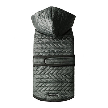 Quilted Nylon Puffer Dog Jacket - Forest Green