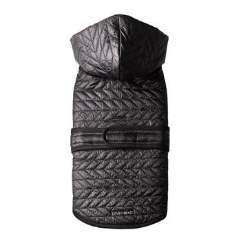 Quilted Nylon Puffer Dog Jacket - Black
