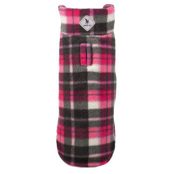 Fargo Fleece Pet Dog Jacket Coat - Pink Plaid