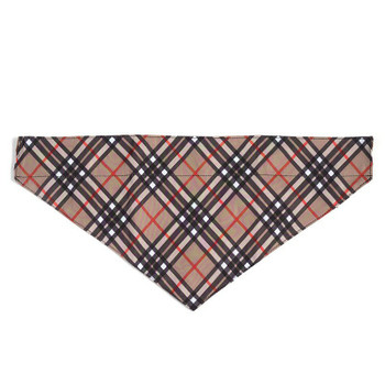 Bias Plaid Tan Pet Dog Collar Bandana