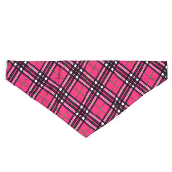 Bias Plaid Pink Pet Dog Collar Bandana
