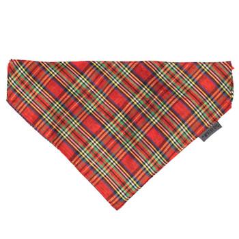 Red Lurex Pet Dog Collar Bandana