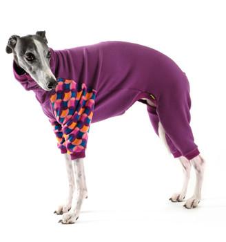 Pet Dog Onesie / Pajama - Eggplant/Summer Mod