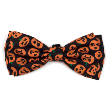 Jack-O-Lantern Pet Dog Bow Tie
