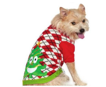 Ugly Sweater Party Christmas Tree Pet Sweater
