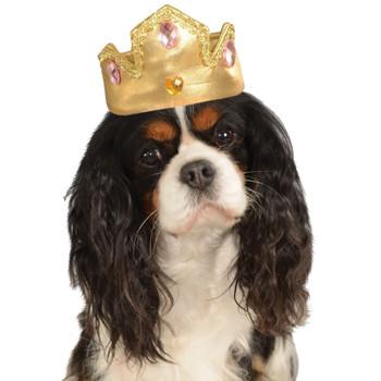 Tiara For Pets - Gold - M/L