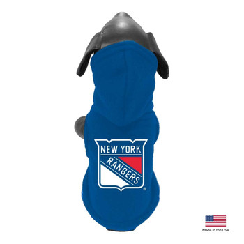 New York Rangers Polar Fleece Pet Hoodie - XS
