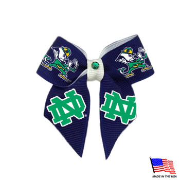 Notre Dame Leprechaun Pet Hair Bow