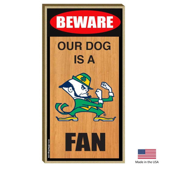 Notre Dame Leprechaun Wood Sign