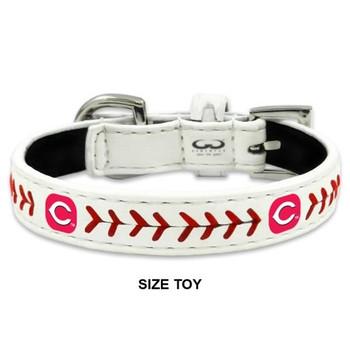 Cincinnati Reds Classic Leather Baseball Collar