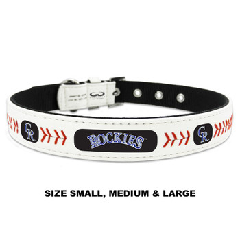 Colorado Rockies Classic Leather Baseball Collar