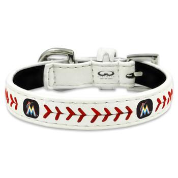Miami Marlins Classic Leather Baseball Collar