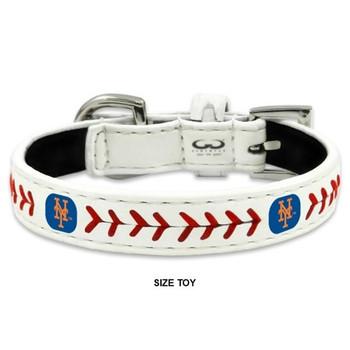 New York Mets Classic Leather Baseball Collar