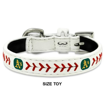Oakland A's Classic Leather Baseball Collar