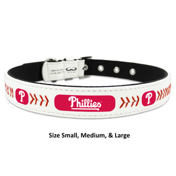 Philadelphia Phillies Classic Leather Baseball Collar