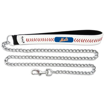 New York Mets Leather Baseball Seam Leash