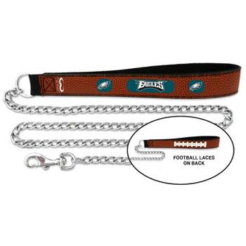 Philadelphia Eagles Football Leather and Chain Leash