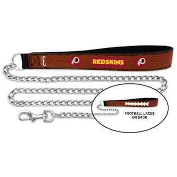 Washington Redskins Football Leather and Chain Leash