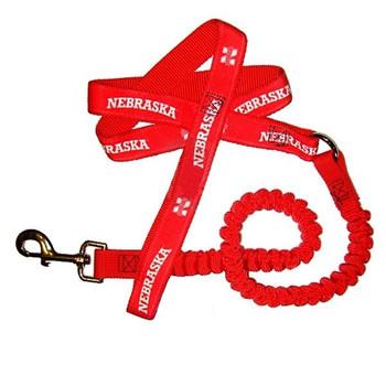 Nebraska Huskers Bungee Ribbon Pet Leash