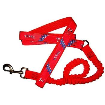 Texas Rangers Bungee Ribbon Pet Leash