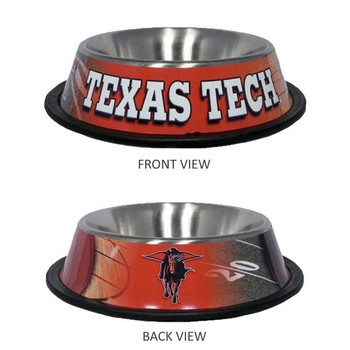 Texas Tech Stainless Steel Pet Bowl