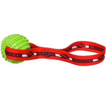 Arkansas Razorbacks Rubber Ball Toss Toy