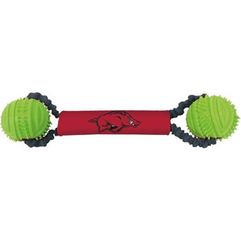 Arkansas Razorbacks Double Bungee Tug-N-Toss Toy