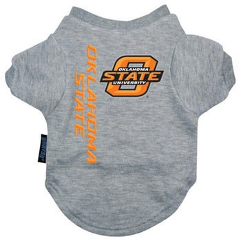 Oklahoma State Heather Grey Pet T-Shirt