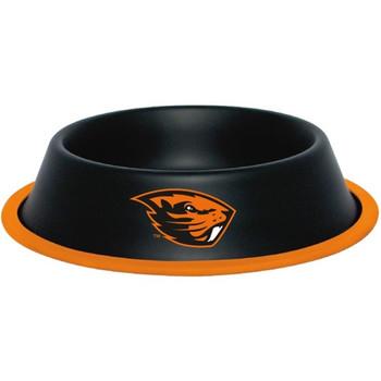 Oregon State Beavers Gloss Black Pet Bowl
