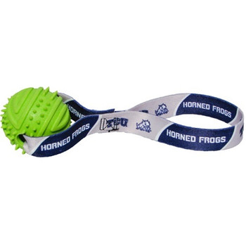 TCU Horned Frogs Rubber Ball Toss Toy