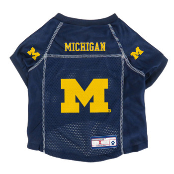Michigan Wolverines Pet Mesh Jersey