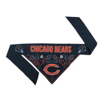 Chicago Bears Pet Reversible Paisley Bandana