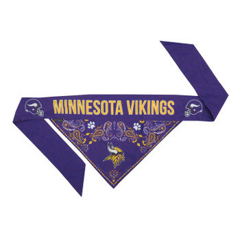 Minnesota Vikings Pet Reversible Paisley Bandana
