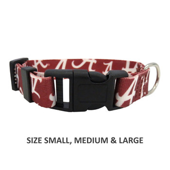 Alabama Crimson Tide Pet Nylon Collar - Medium