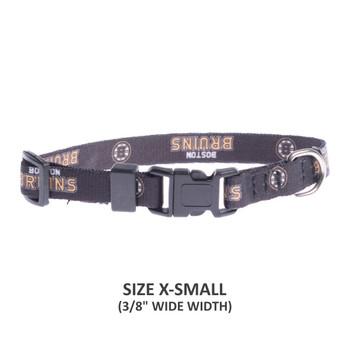 Boston Bruins Pet Nylon Collar - Small
