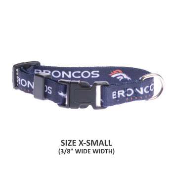 Denver Broncos Pet Nylon Collar - Small