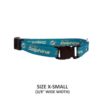 Miami Dolphins Pet Nylon Collar - Small