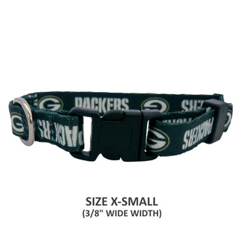 Green Bay Packers Pet Nylon Collar - Small