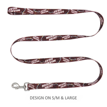 Miami Heat Pet Nylon Leash - Large