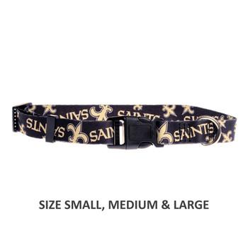 New Orleans Saints Pet Nylon Collar - Medium