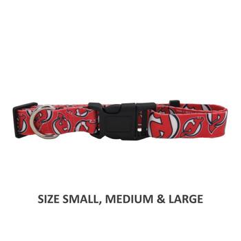 New Jersey Devils Pet Nylon Collar - Medium