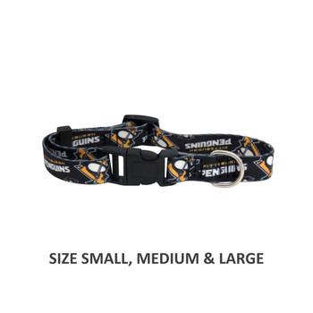 Pittsburgh Penguins Pet Nylon Collar - Medium