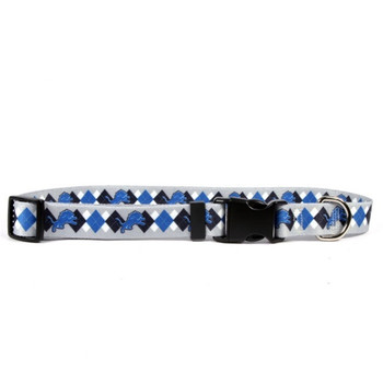 Detroit Lions Argyle Nylon Collar