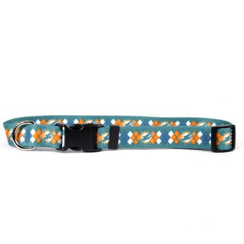 Miami Dolphins Argyle Nylon Collar