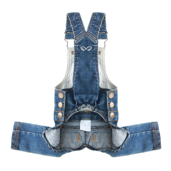 Puppy Angel Geolgine Daily Denim Overall Dog Pants - Indigo