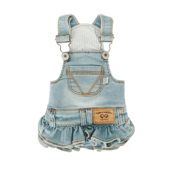 Puppy Angel Ohkio Denim Suspenders cancan skirt - Lt Blue