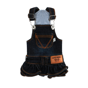 Puppy Angel Ohkio Denim Suspenders cancan skirt - Navy Blue